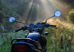 motorrad in der natur